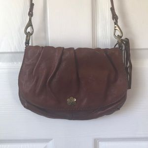 Lucky brand crossbody brown leather purse